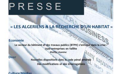Nouvelle Revue de presse du CDES d'Oran en français et en arabe